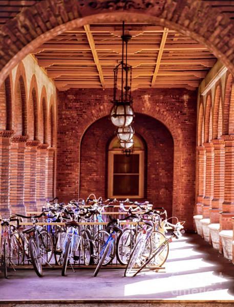 Photograph - Flagler College Bike Rack Hallway St Augustine Florida by Tom Jelen
