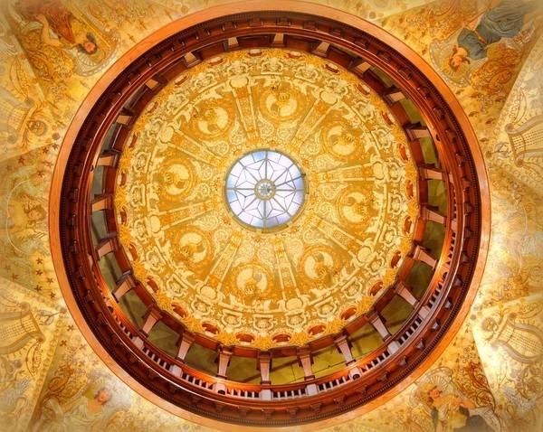 Flagler Photograph - Flagler Lobby Dome by Linda Covino