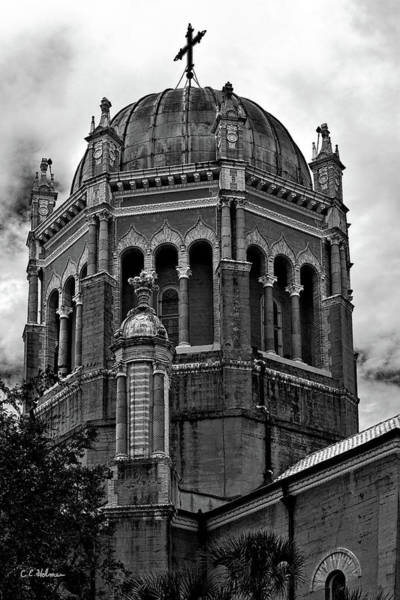 Photograph - Flagler Memorial Presbyterian Church 3  B-w by Christopher Holmes