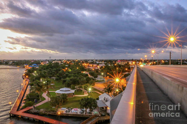Photograph - Flagler Park And Downtown Stuart by Tom Claud