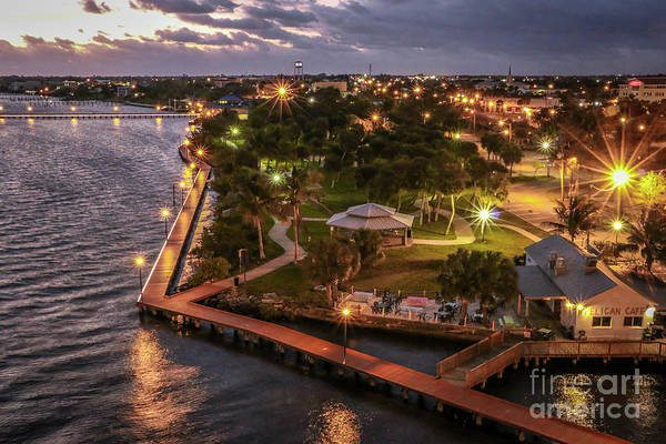 Photograph - Flagler Park At Sunrise by Tom Claud