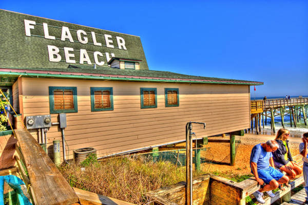 Flagler Beach Photograph - Flagler Pier Postcard by Andrew Armstrong  -  Mad Lab Images