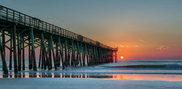 Flagler Pier Sunrise Art Print