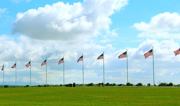 Photograph - Flags At Miramar by Alison Frank