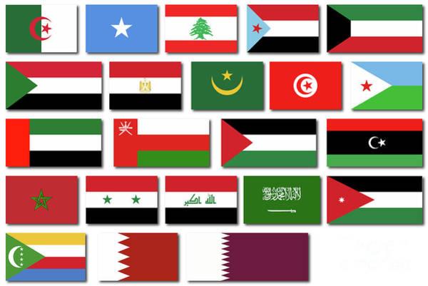 Tunisia Digital Art - Flags Of The Arab League by Bigalbaloo Stock