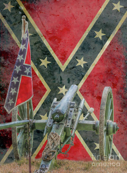 Wall Art - Digital Art - Flags Of The Confederacy Ver Two by Randy Steele