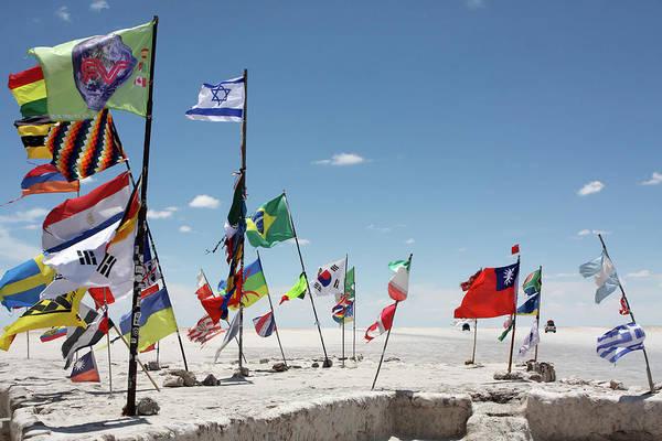Photograph - Flags Of The Dakar Rally by Aidan Moran