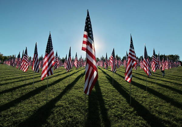 Photograph - Flags Of Valor - 2016 by Rau Imaging