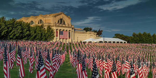 Photograph - Flags Of Valor On Art Hill by Garry McMichael
