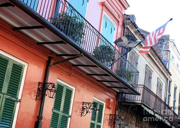 Photograph - Flags On The Balcony by Carol Groenen