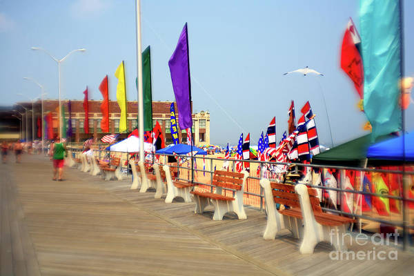 Down The Shore Photograph - Flags On The Boardwalk 2007 by John Rizzuto