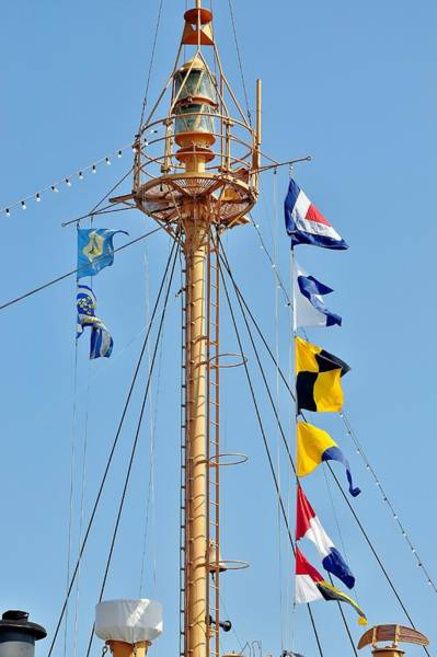 Photograph - Flags On The Lightship Overfalls by Kim Bemis