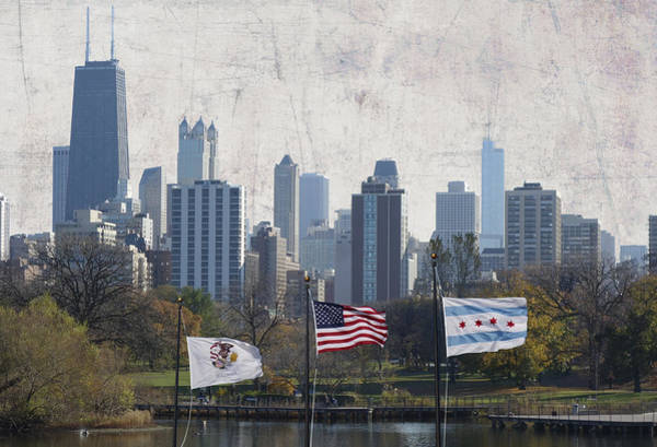 Wall Art - Photograph - Flags Up In Chicago by Daniel Hagerman