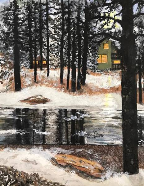 Flagstaff Painting - Flagstaff Home by Kim Wall