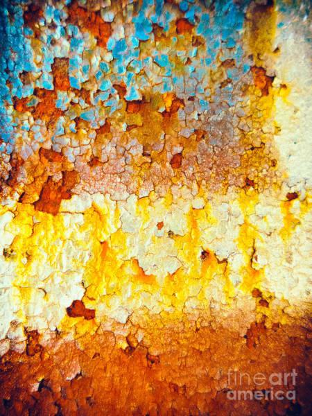 Photograph - Flaking Rusty Iron by Silvia Ganora