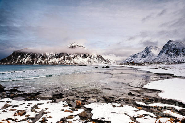 Wall Art - Photograph - Flakstad Bay by Janet Burdon