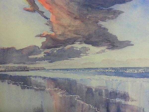 Painting - Flamborough Head From Fraisthorpe Beach by Glenn Marshall