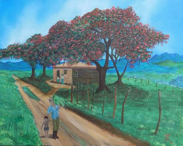 Painting - Flamboyan by Tony Rodriguez