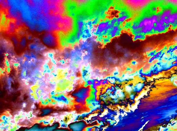 Wall Art - Digital Art - Flamboyant Cloudscape by Will Borden
