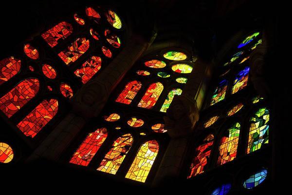 Photograph - Flamboyant Stained Glass Window by Georgia Mizuleva