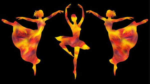 Painting - Flamboyant Trio Dance by Irina Sztukowski