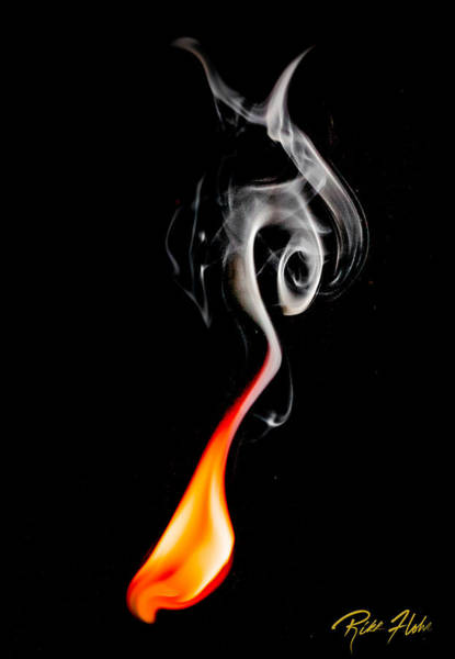 Photograph - Flame And Smoke by Rikk Flohr