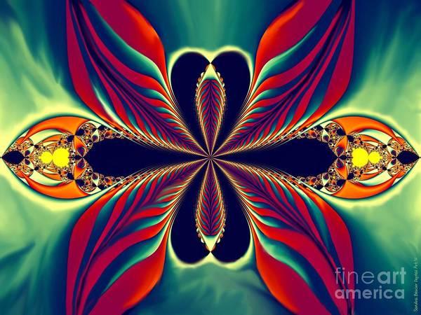 Painting - Flame Blossom by Sandra Bauser Digital Art