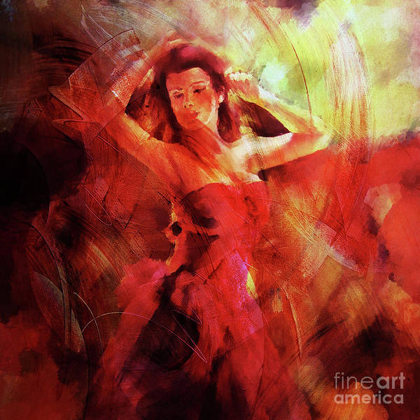 Latino Painting - Flamenco Dance 03 by Gull G
