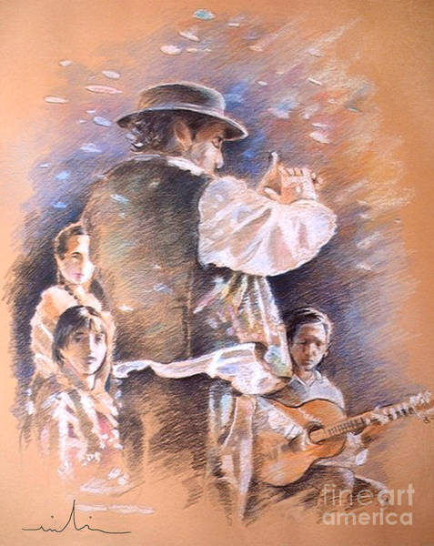 Painting - Flamenco Group by Miki De Goodaboom
