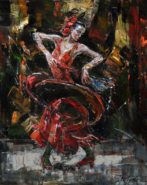 Painting - Flamenco II by Stefano Popovski