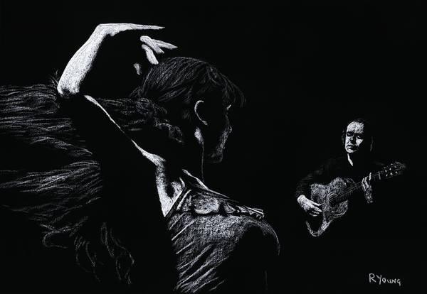 Wall Art - Pastel - Flamenco Recital by Richard Young