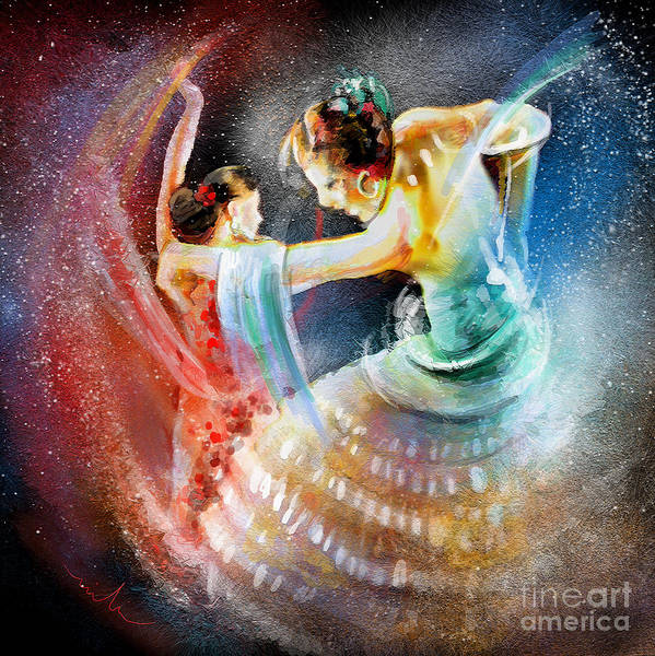 Painting - Flamencoscape 06 by Miki De Goodaboom