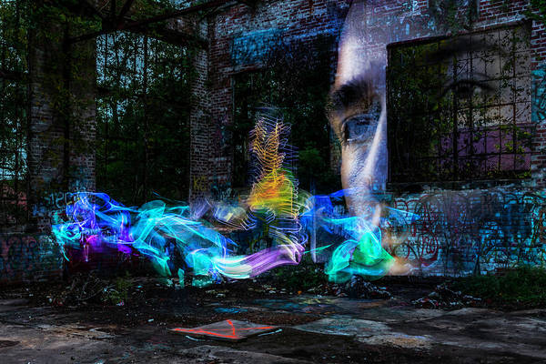 Multiple Exposure Digital Art - Flames And Fairies by Jonathon Ahhee