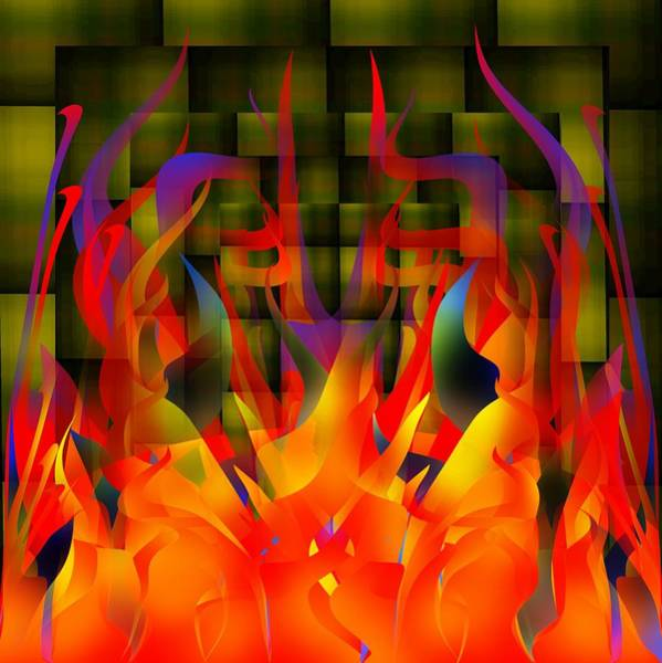 Digital Art - Flames by Bukunolami Olamilokun