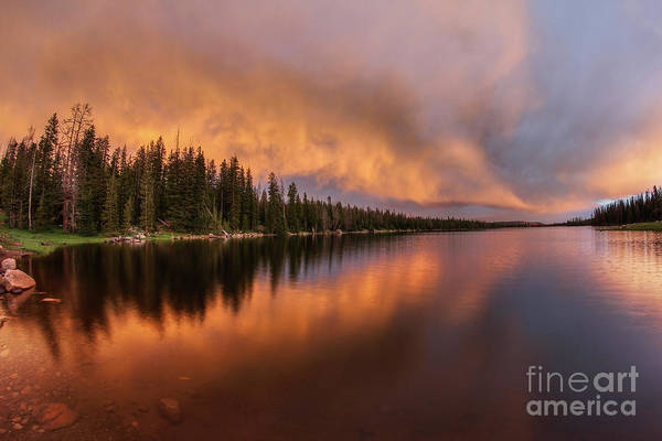 Photograph - Flamethrower Sunset by Spencer Baugh
