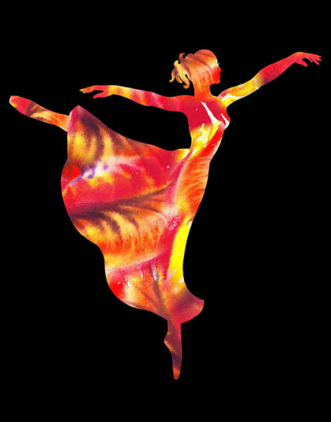 Fire Dance Wall Art - Painting - Flaming Arabesque  by Irina Sztukowski