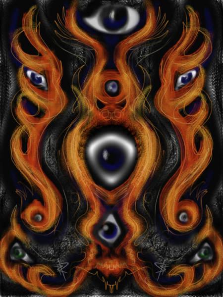 Eyeball Digital Art - Flaming Eyes by Russell Pierce