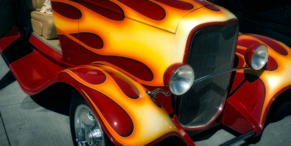 Photograph - Flaming Hot Rod by Michael Hope