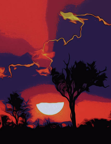 Painting - Flaming Skies by Andrea Mazzocchetti