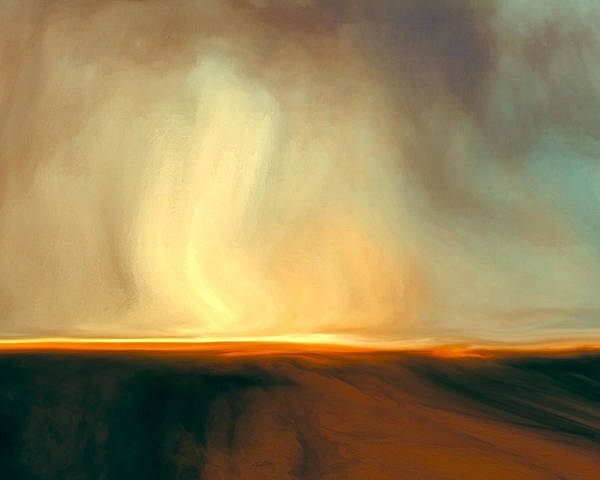 Stormy Digital Art - Flaming Sky by Lonnie Christopher