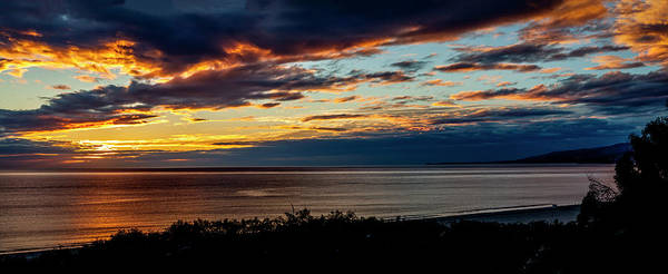 Photograph - Flaming Sky - Panorama by Gene Parks
