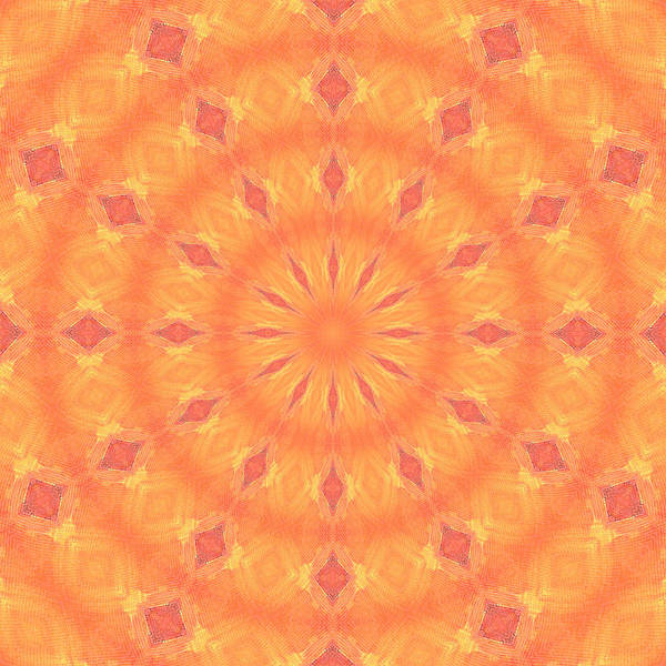 Digital Art - Flaming Sun by Elizabeth Lock