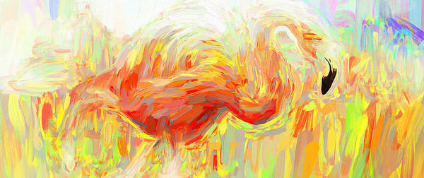 Photograph - Flamingo Abstracts by Alice Gipson