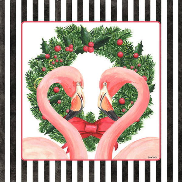 Ornament Painting - Flamingo Amore 1 by Debbie DeWitt