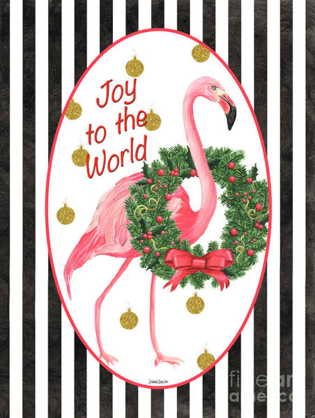 Ornament Painting - Flamingo Amore 2 by Debbie DeWitt