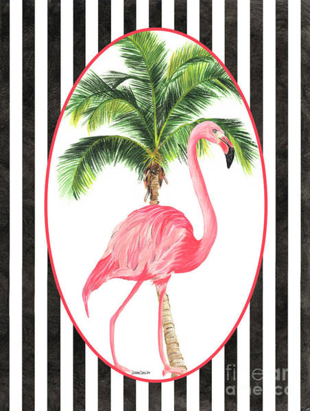 Tropic Painting - Flamingo Amore 7 by Debbie DeWitt