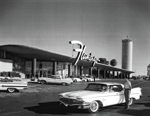 Photograph - Flamingo Hotel Opening 1950 by Doc Braham
