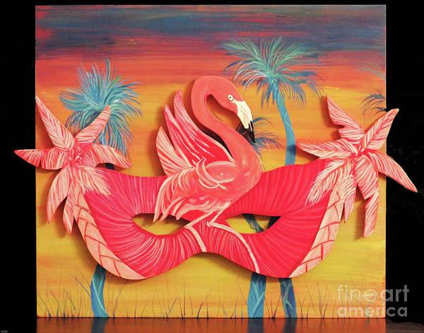 Painting - Flamingo Mask F54 by Lizi Beard-Ward