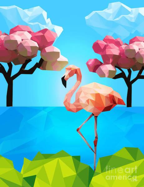 Wall Art - Digital Art - Flamingo by Mo T
