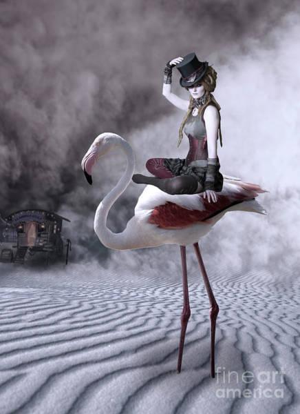 Wall Art - Photograph - Flamingo Rider by Juli Scalzi